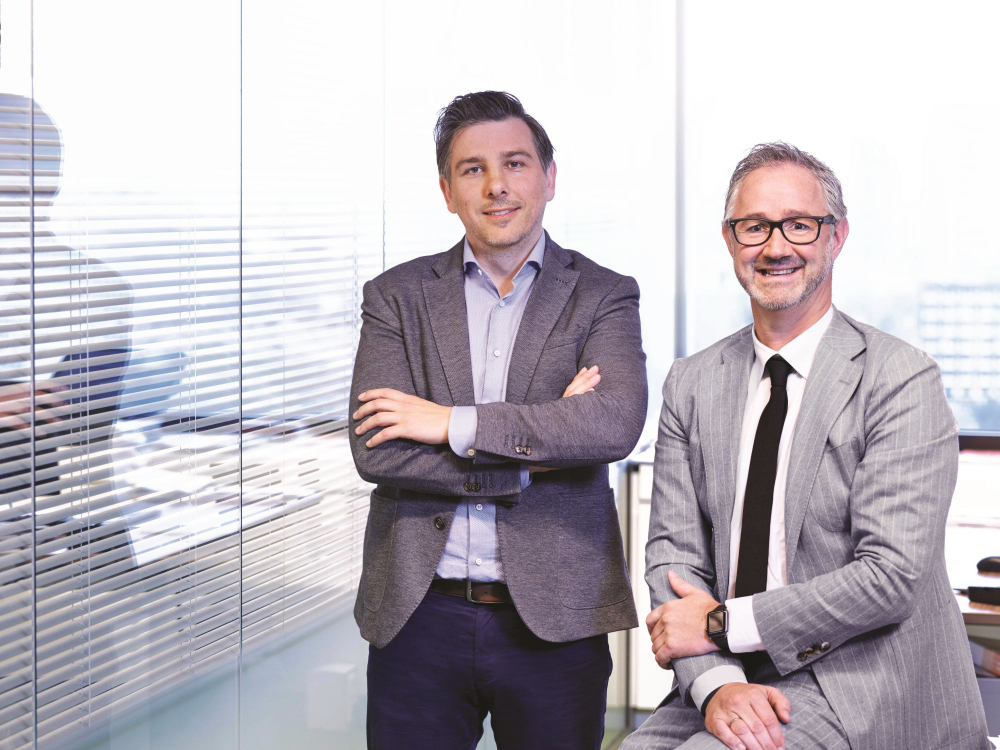 Steven Fitsch (Marketing Manager Benelux) & Frank Heus (Country Director Benelux)